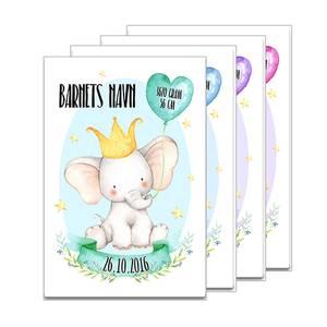 Bilde av Fødselsplakat Elefant