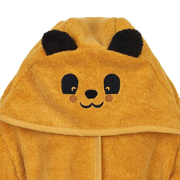 Badekåpe Gul Panda