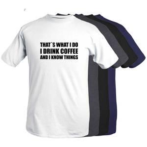 Bilde av T-shirt  -I drink coffee