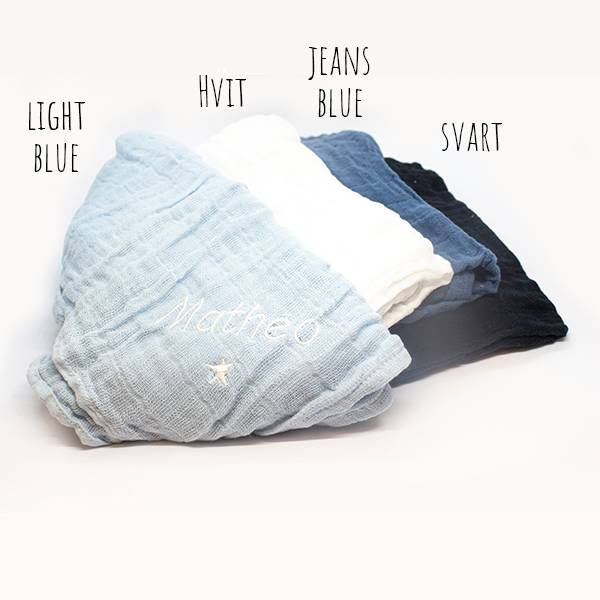 Muslinklut - Blå toner